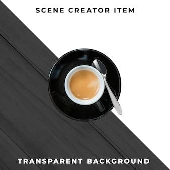 Tazza da caffè trasparente psd