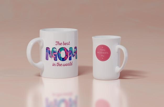 Tazza di giorno di madri di primo piano