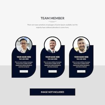 Teamlid websjabloon