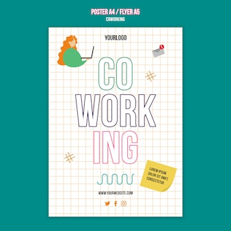 Teamwerk concept poster sjabloon poster