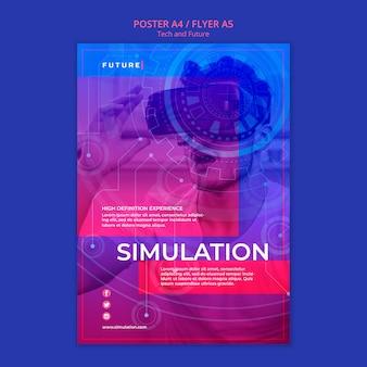 Tech en toekomst concept poster
