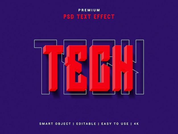 Tech-teksteffect