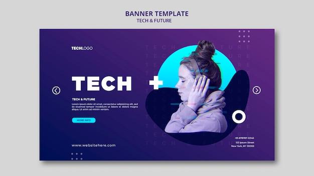 Tech & toekomst banner sjabloon concept sjabloon