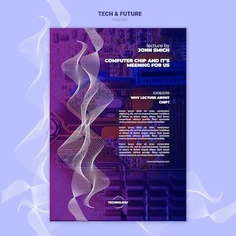 Tech & toekomst concept poster