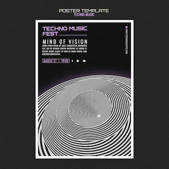 Techno muziek fest poster
