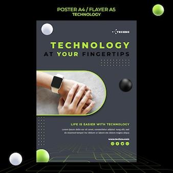 Technologie concept poster sjabloon