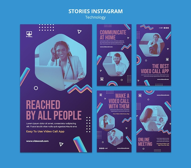 Technologie instagram verhalencollectie