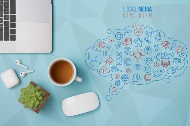 Tecnología moderna con conexión wifi 5g
