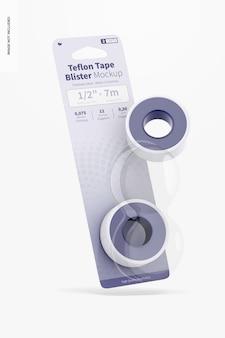 Teflon tape blisters mockup drijvend