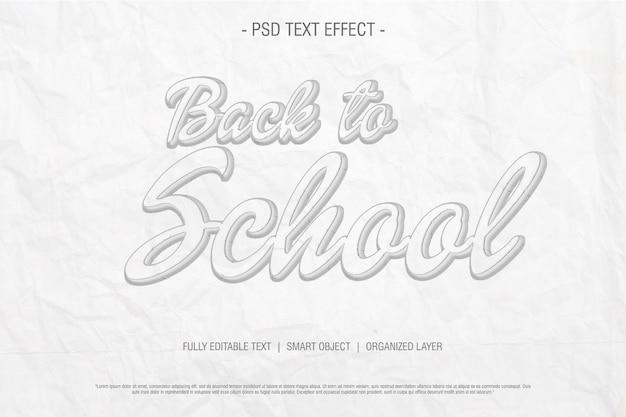 Tekening schets terug naar school teksteffect esy bewerkbaar