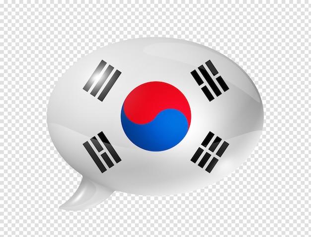 Tekstballon van de zuid-koreaanse vlag