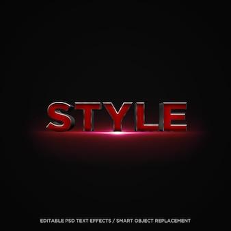 Teksteffect 3d-rode stijl Premium Psd