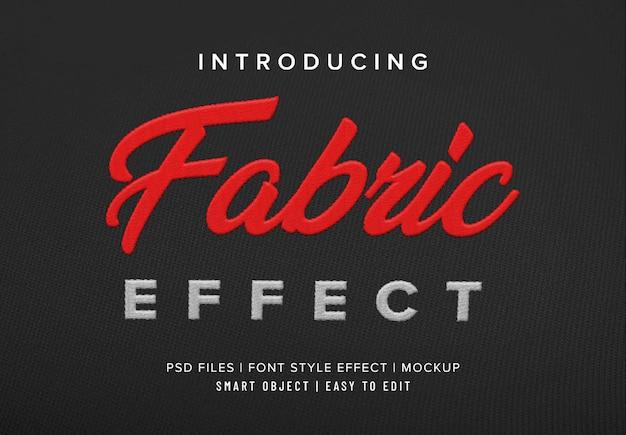 Teksteffect 3d-stof premium psd