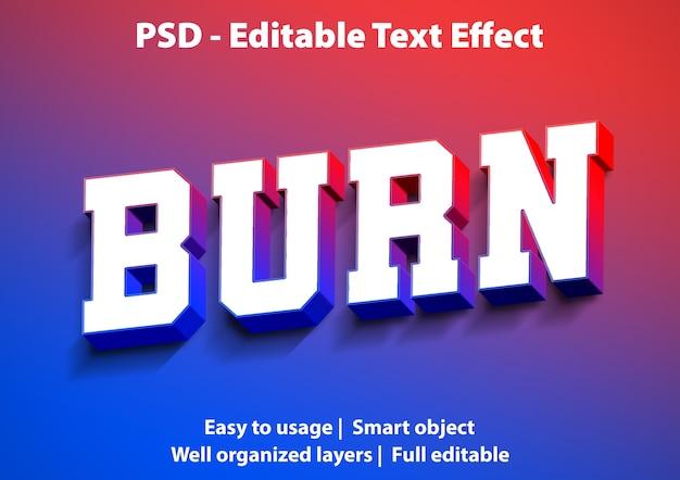 Teksteffect brandstijlsjabloon