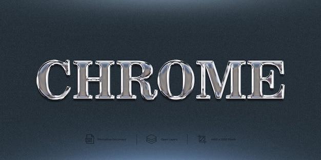 Teksteffect design chrome-stijl