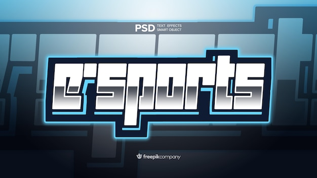 Teksteffect e-sports