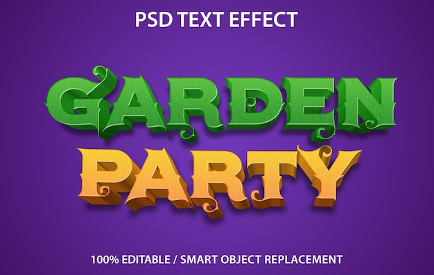 Teksteffect garden party-sjabloon