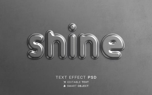 Teksteffect glasontwerp