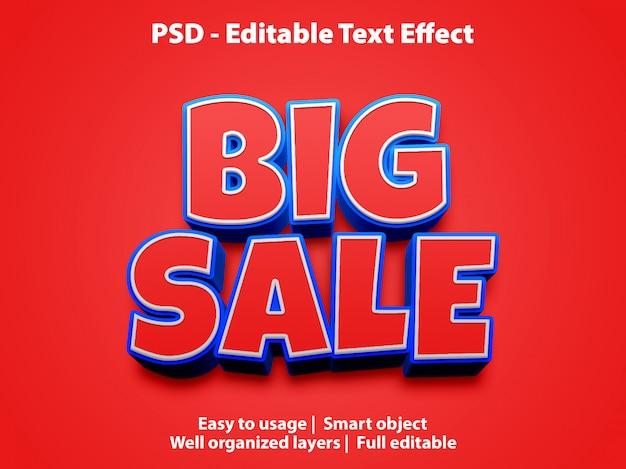 Teksteffect grote verkoopsjabloon