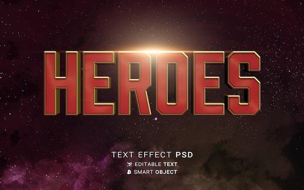 Teksteffect held ontwerp