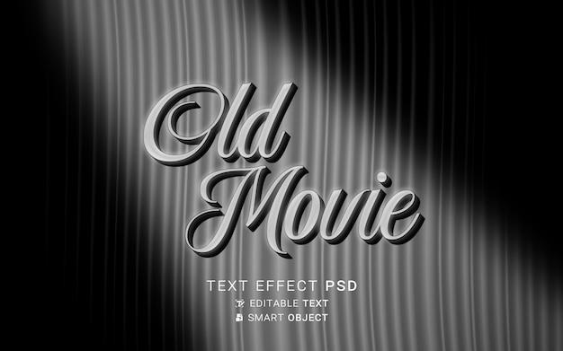 Teksteffect het einde van het oude filmontwerp Gratis Psd