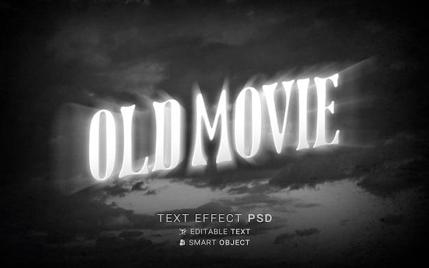 Teksteffect het einde van het oude filmontwerp