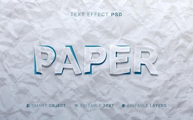 Teksteffect in papierstijl Gratis Psd