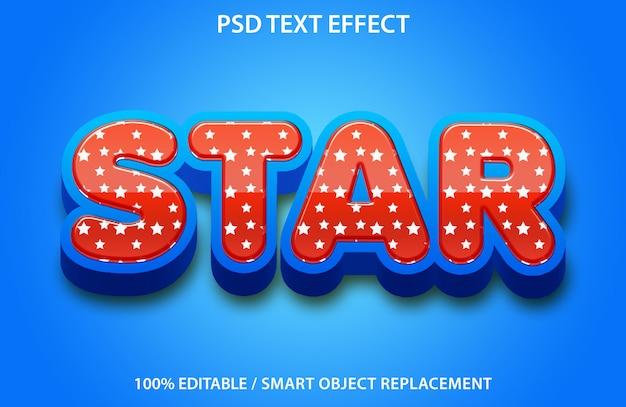 Teksteffect met ster