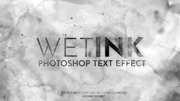 Teksteffect natte inkt