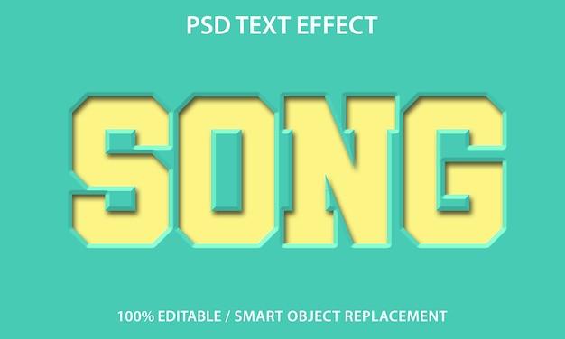 Teksteffect papieren liedsjabloon