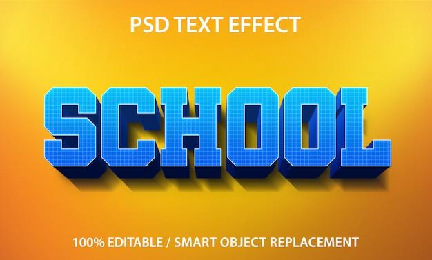 Teksteffect school-sjabloon