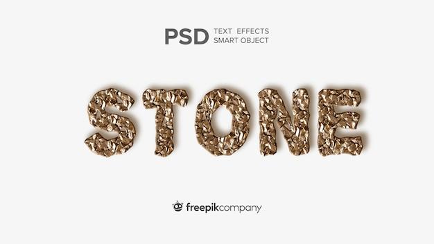 Teksteffect stenen mockup Premium Psd