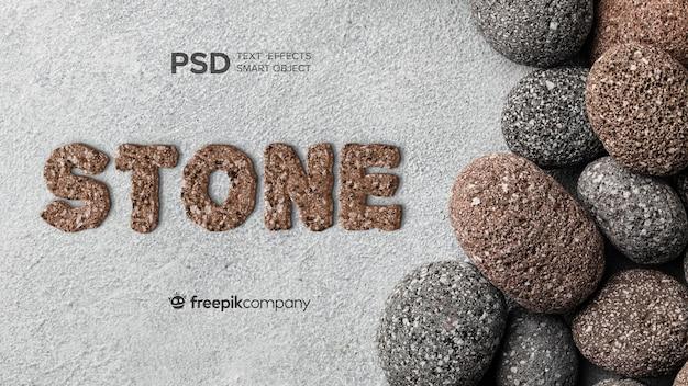 Teksteffect stenen mockup