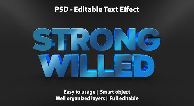 Teksteffect sterk gewillige sjabloon