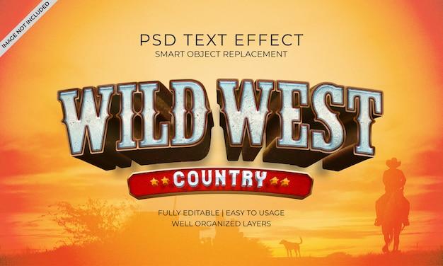 Teksteffect van het wilde westenland
