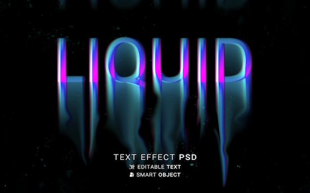 Teksteffect vloeibaar typografieontwerp