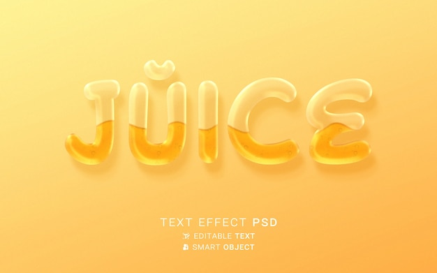 Teksteffect vloeibaar voedsel