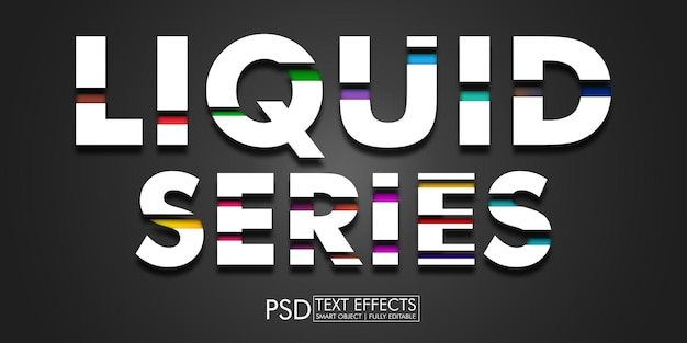 Teksteffect vloeibare serie