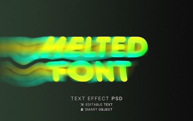 Teksteffect vloeibare typografie