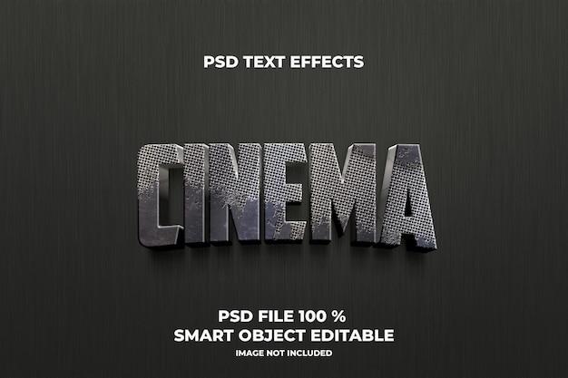 Teksteffecten bioscoop sjabloon