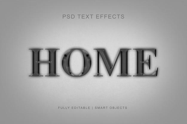 Teksteffecten in moderne metaalstijl