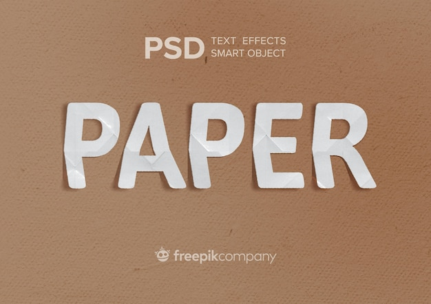 Teksteffectpapier