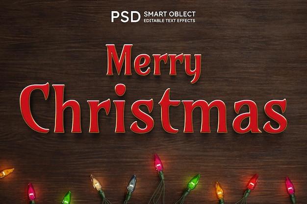 Tekststijleffect kerst
