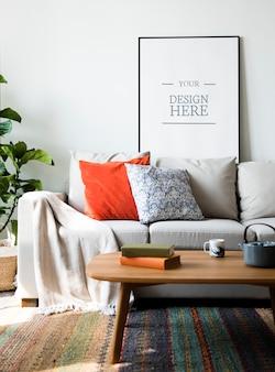 Telaio mockup con il concetto di interior design