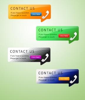 Telefónicos elementos de la página con información