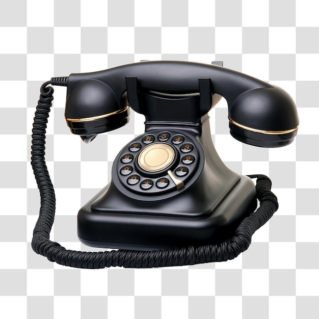 Teléfono antiguo, archivo psd en capas