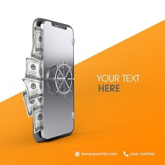 Teléfono de banco 3d