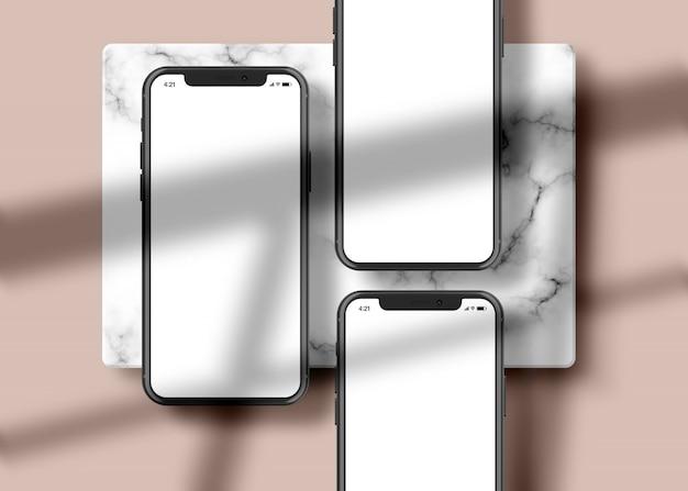 Teléfono: maqueta de presentación de la aplicación