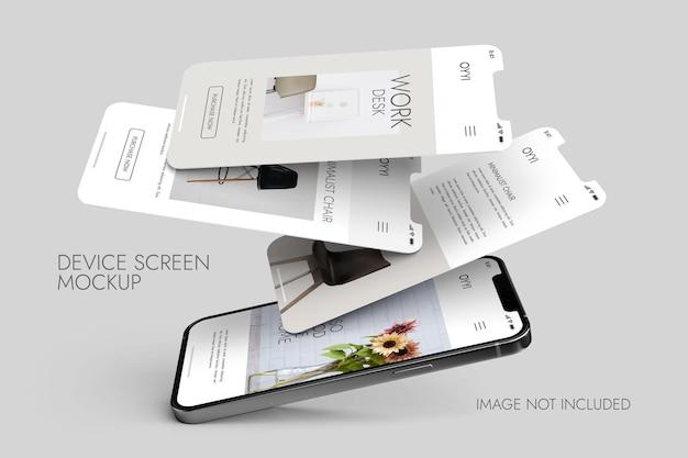 Teléfono y pantalla: maqueta de presentación de la aplicación ui ux