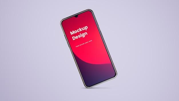 Teléfono y pantalla - maqueta de ui ux